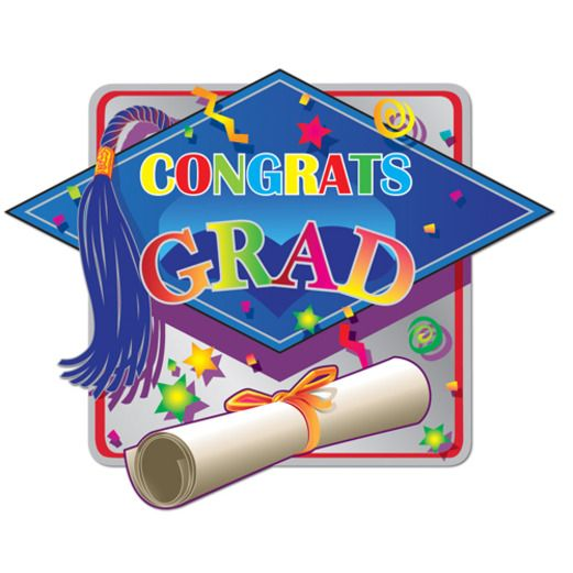 Graduation Decorations Hi-Gloss Graduation Sign Image