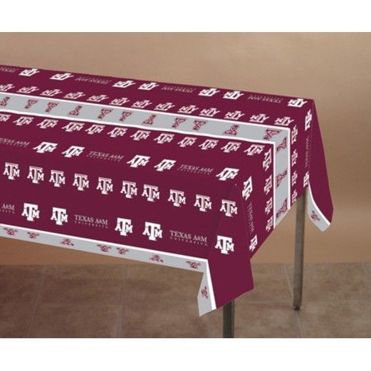 Sports Table Accessories Texas A&M Plastic Table Cover Image