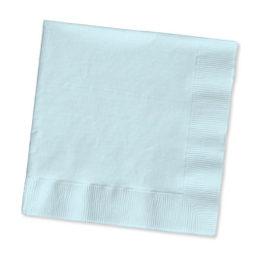 Baby Shower Table Accessories Light Blue Luncheon Napkins Image