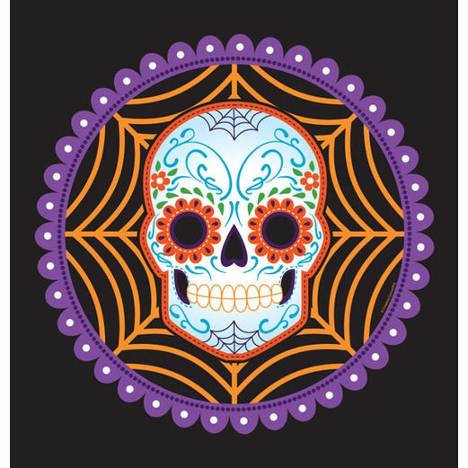 Day of the Dead Table Accessories DOD Web Plastic Table Cover Image