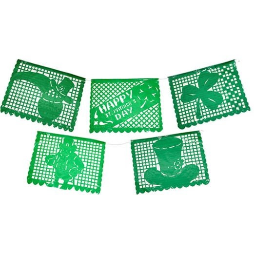 St. Patrick's Day Decorations St. Patrick's Day Plastic Picado Banner Image