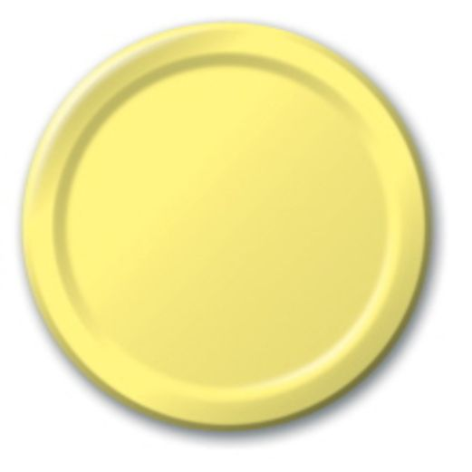 Baby Shower Table Accessories Yellow Dinner Plates Image