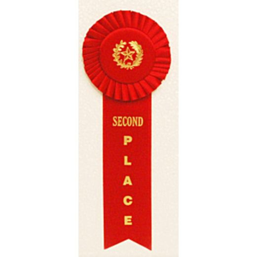 Favors & Prizes 2nd Place Rosette Ribbon Image