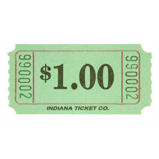 Tickets & Wristbands Green Dollar Ticket Roll Image