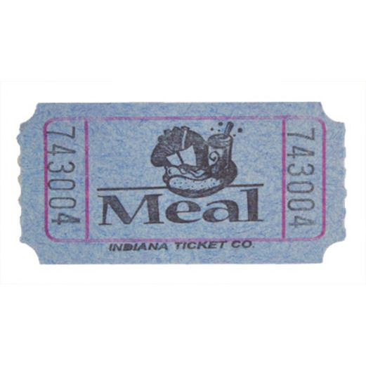 Tickets & Wristbands Blue Meal Ticket Roll Image