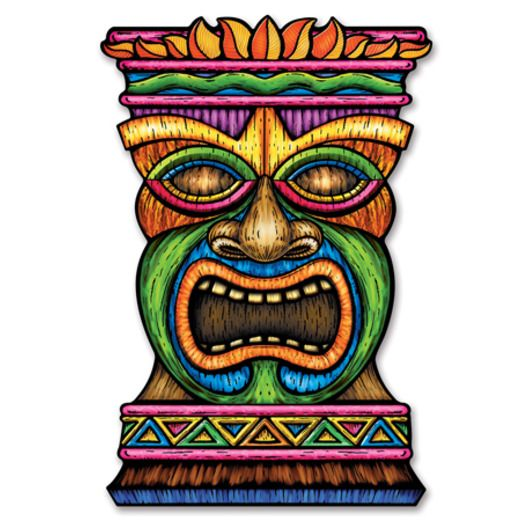 Luau Decorations Jumbo Tiki Cutout Image
