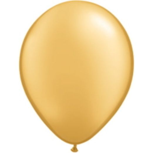 "New Years Balloons 5"" Qualatex Gold Balloons Image"