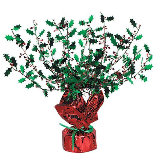 Decorations / Cutouts Metallic Holly & Berry Burst Centerpiece Image