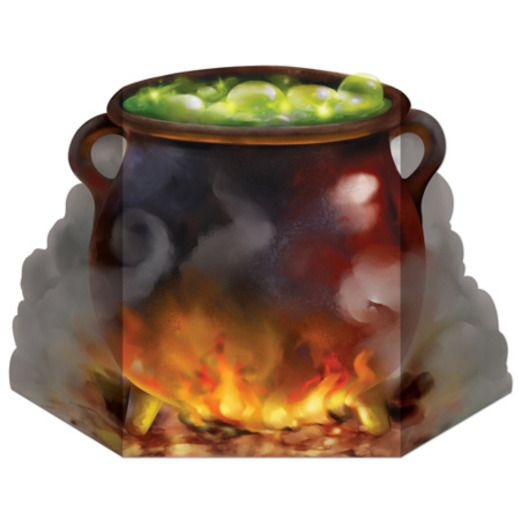 Halloween Decorations Witch Cauldron Stand Up Image