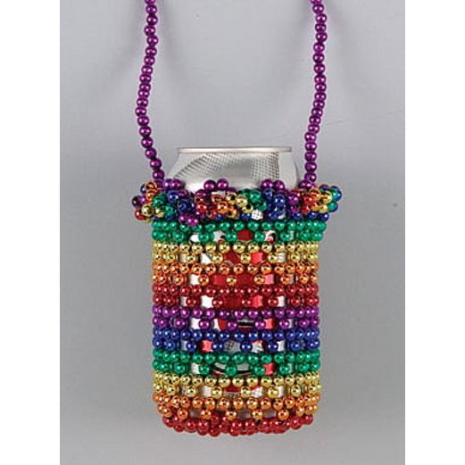 Cinco de Mayo Party Wear Rainbow Beaded Can Holder Image