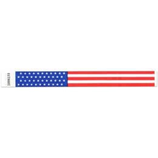 WB Tyvek Wristbands US Flag Image