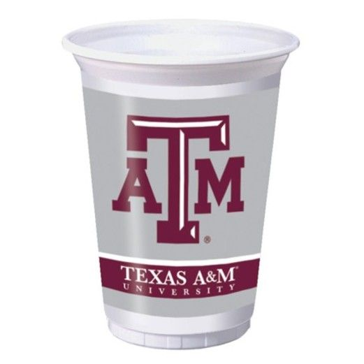Sports Table Accessories Texas A&M Plastic Cups Image