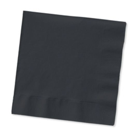 New Years Table Accessories Black Luncheon Napkins Image