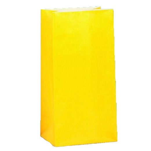 Gift Bags & Paper Sun Yellow Paper Sacks Image
