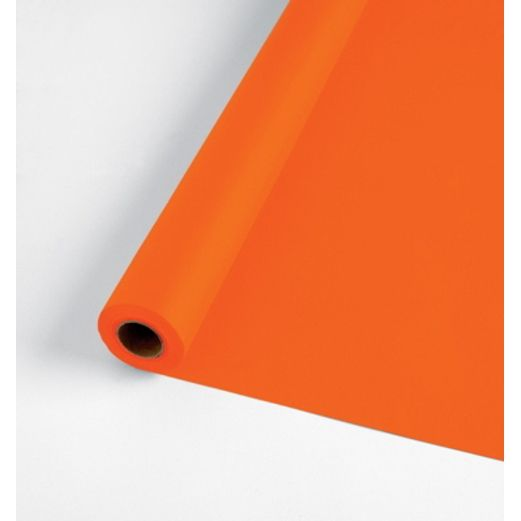 Halloween Table Accessories 100' Orange Table Roll  Image