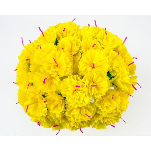 Cinco de Mayo Decorations Yellow Carnations Image