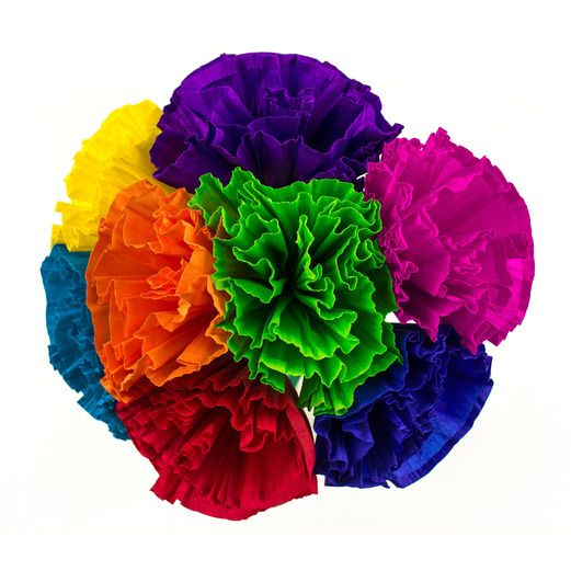 Mexican paper flowers mexican party supplies at amols fiesta cinco de mayo decorations chayos flowers 4 8 per bunch image mightylinksfo