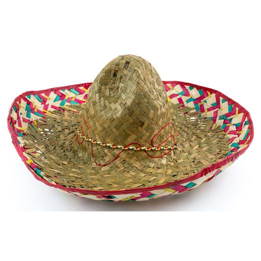 Cinco de Mayo Hats & Headwear Mexican Colored Edge Sombrero Image