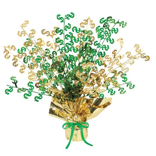"Casino Decorations ""$"" Burst Centerpiece Image"