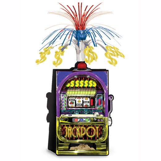 Casino Decorations Slot Machine Centerpiece Image