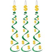 Casino Decorations Dollar Signs Whirls Image