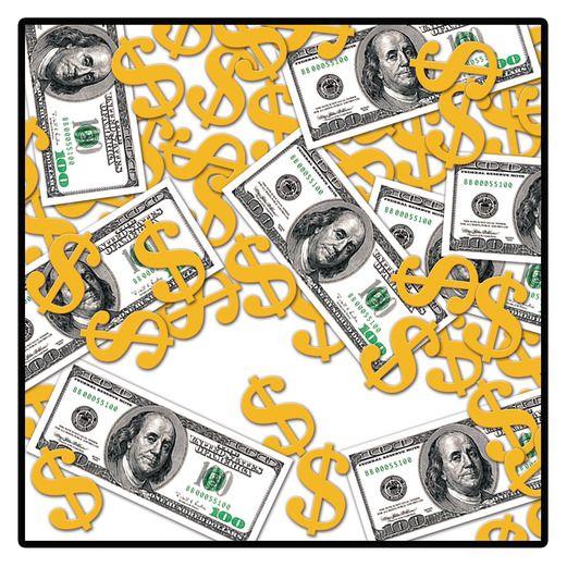 Casino Decorations Big Bucks Confetti Image