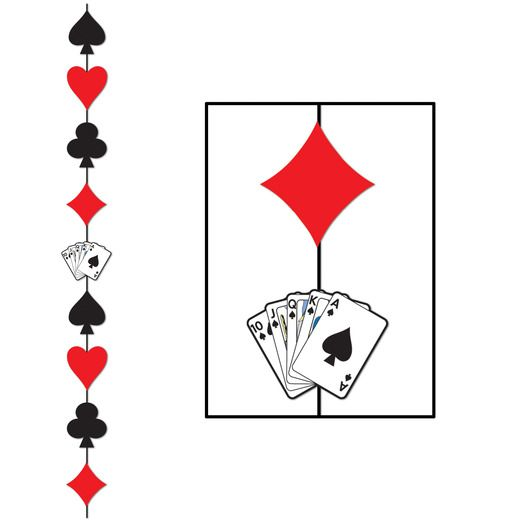 Casino Decorations Card Suit Stringer Image