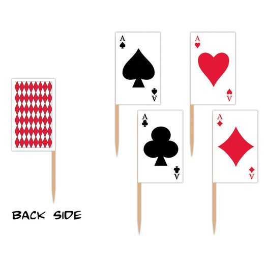 Casino Decorations Playing Card Flag Picks Image