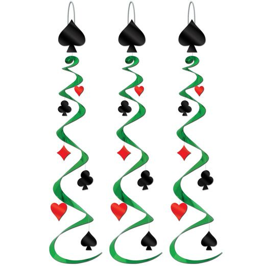 Casino Decorations Card Suit Whirls Image