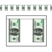 Casino Decorations $100 Bill Pennant Banner Image