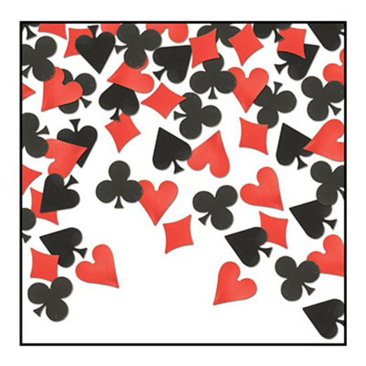 Casino Decorations Card Suits Confetti Image