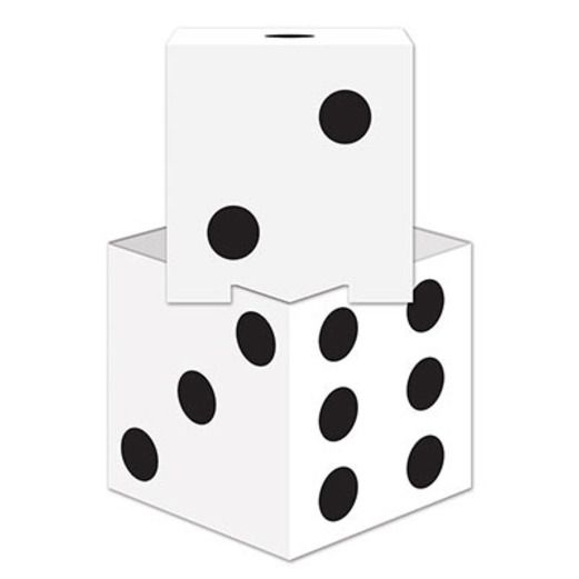 Casino Decorations Dice Stacking Centerpiece Image