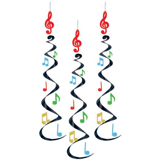 Music Decorations Musical Note Whirls Image
