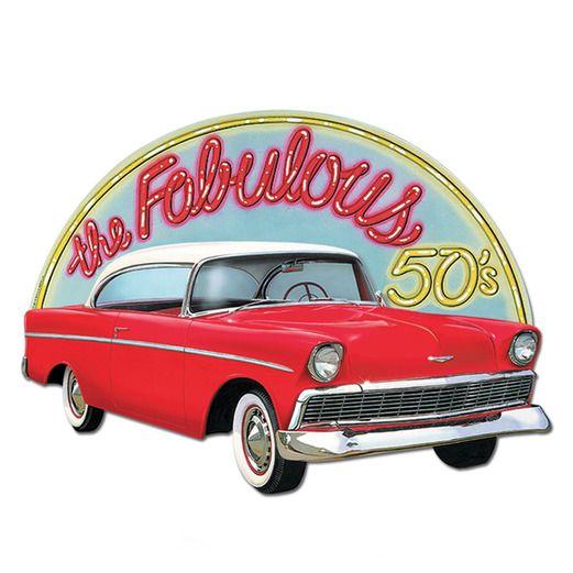 Fifties Decorations Fabulous 50's Sign Image