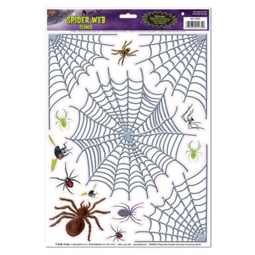 Halloween Decorations Spider & Web Clings Image