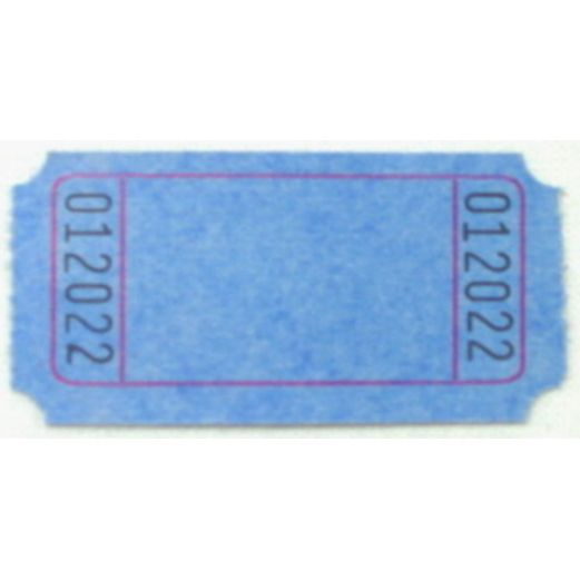 Tickets & Wristbands Blue Blank Ticket Roll Image