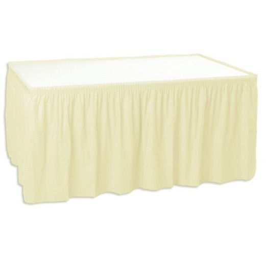 Wedding Table Accessories Ivory Table Skirt Image
