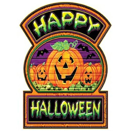 Halloween Decorations Happy Halloween Sign Image