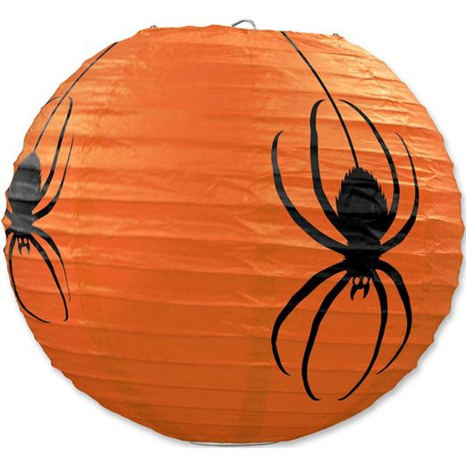 Halloween Decorations Spider Paper Lanterns DSC Image