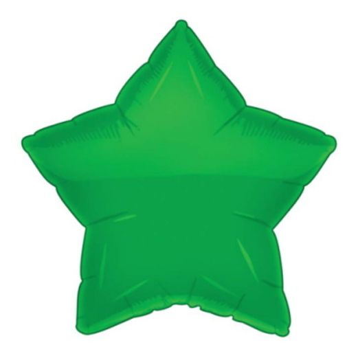 St. Patrick's Day Balloons Green Star Mylar Balloon Image