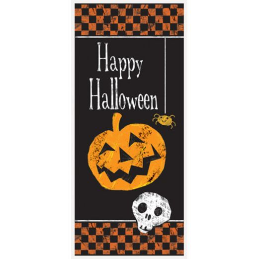 Halloween Decorations Checkered Halloween Door Cover Image