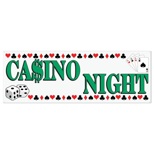 Casino Decorations Casino Night Sign Banner Image