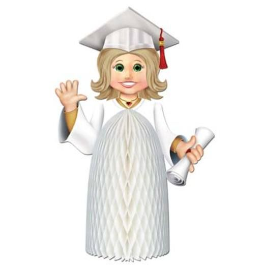 Graduation Decorations Girl Graduate Centerpiece Image