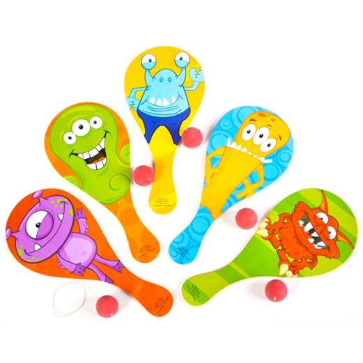 Favors & Prizes Monster Paddle Balls Image