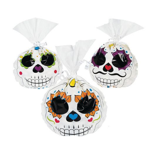 Day of the Dead Gift Bags & Paper Day of Dead Cellophane Bags Image