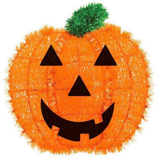 Halloween Decorations Tinsel Pumpkin Image