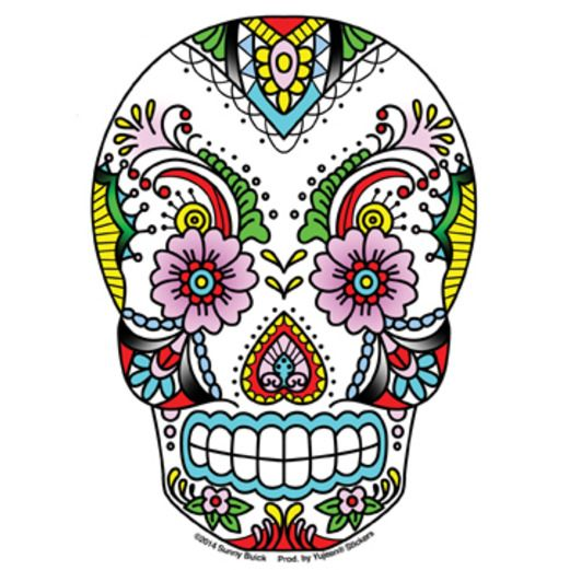 Favors & Prizes / Small Toys Lace Sugar Skull Sticker Image