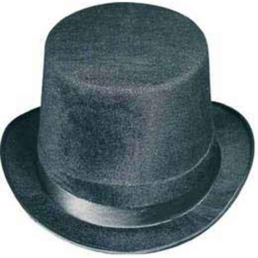 New Years Hats & Headwear Black Felt Top Hat Image