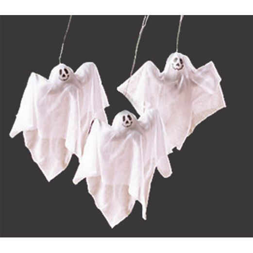 Halloween Decorations Sheer Fabric Ghosts Image