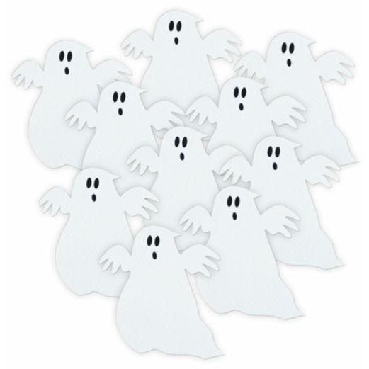 Halloween Decorations Mini Ghost Cutouts Image